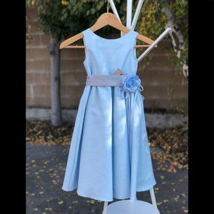 Light blue dress.